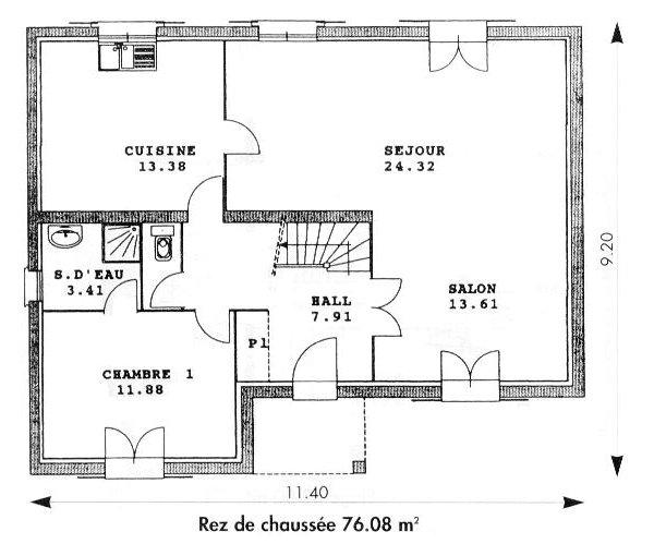 Maison babeau seguin - Plan de maison de 65m2 ...