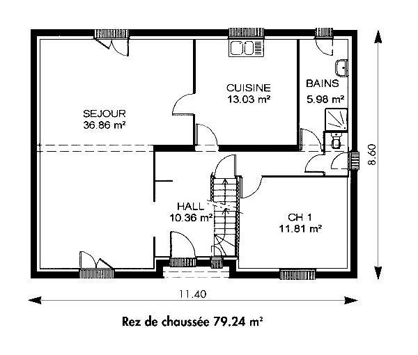 Surface habitable for Calcul surface habitable maison individuelle